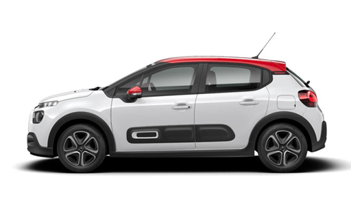 CITROEN C3 P/T83 Shine in White with Red Roof